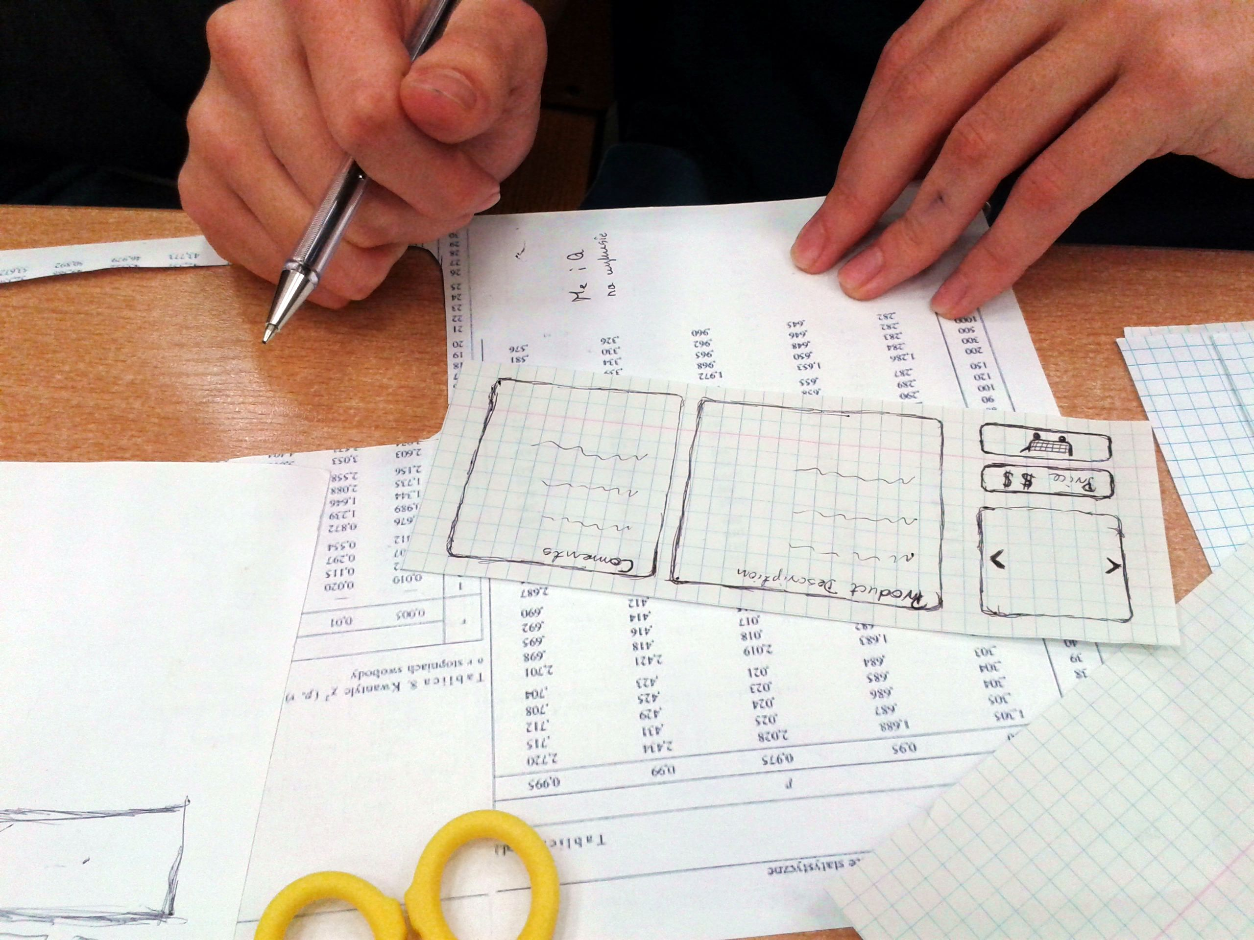 paper prototyping Paper prototyping involves creating a minimal version of your interface using easily movable and replaceable interface elements, created from pieces of paper paper.