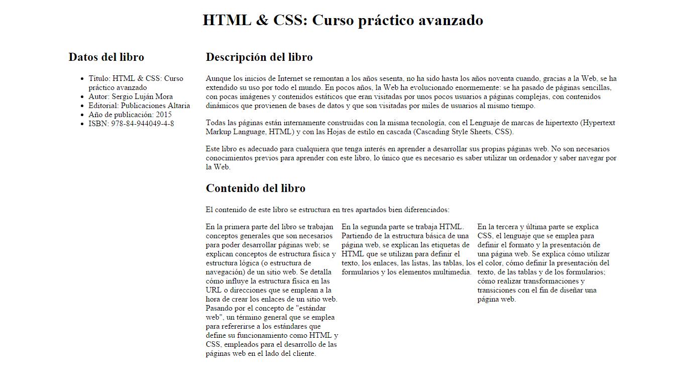 Ejercicios Maquetación Diseño Líquido Html Css Curso